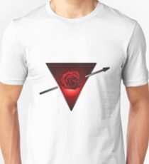 Love heart rose triangle  minimalist design T-Shirt