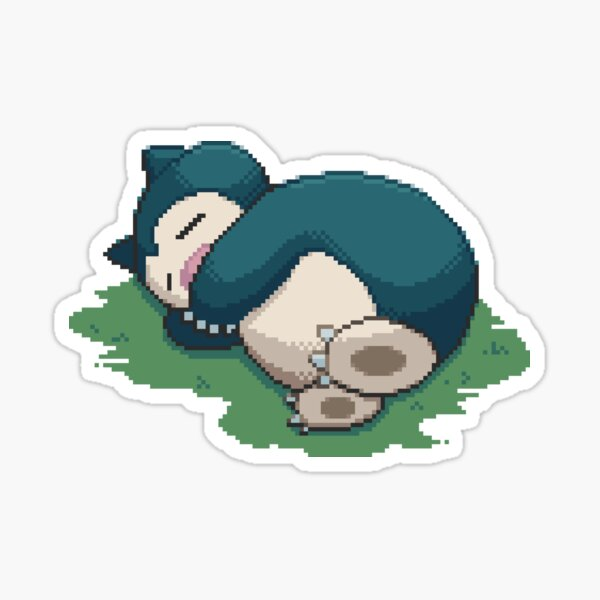 Snorlax Pixel Sticker