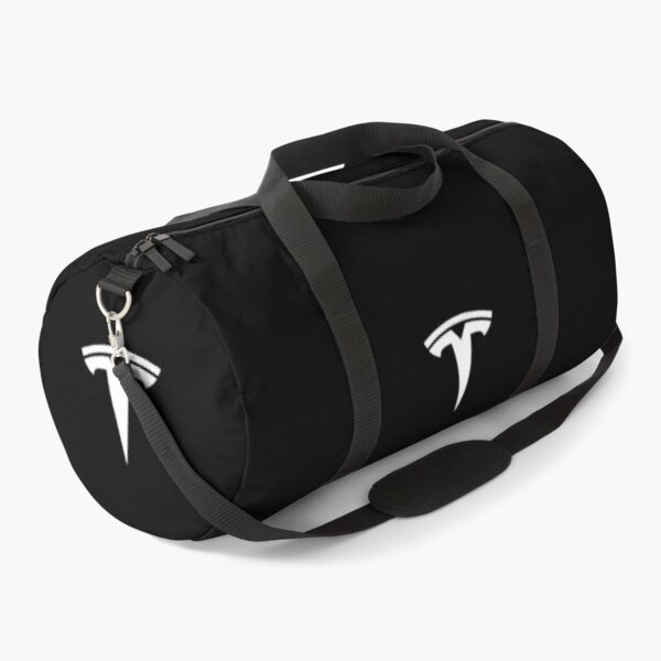 Best Selling of White Tesla Logo Only Duffle Bag