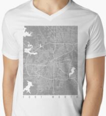 Fort Worth map grey T-Shirt
