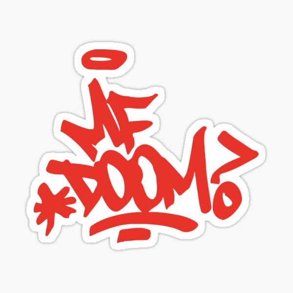 Doom-MF art Sticker