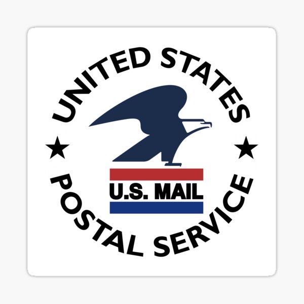 United States Postal Service -- Classic U.S. Mail Logo 1970 - 1993 -- Circular Text Sticker