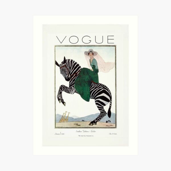 Vintage Vogue, Fashion Print, Vogue Cover 1926 Jan Art Print