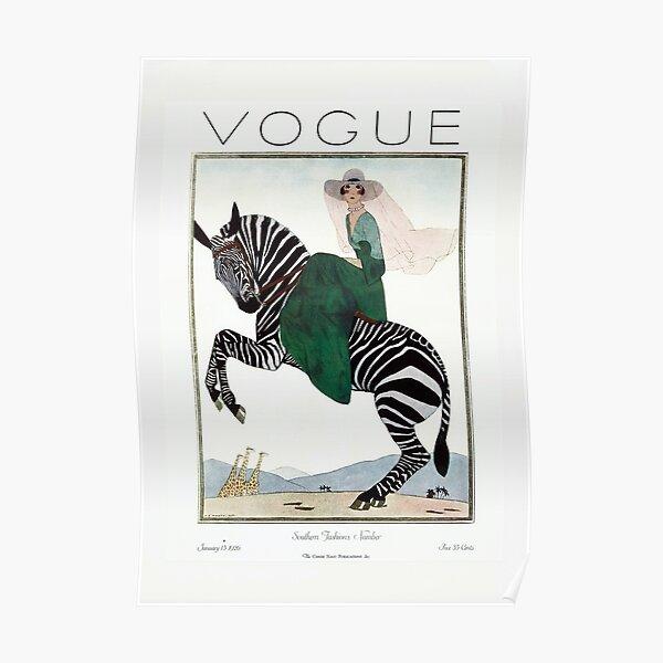 Vintage Vogue, Fashion Print, Vogue Cover 1926 Jan Poster
