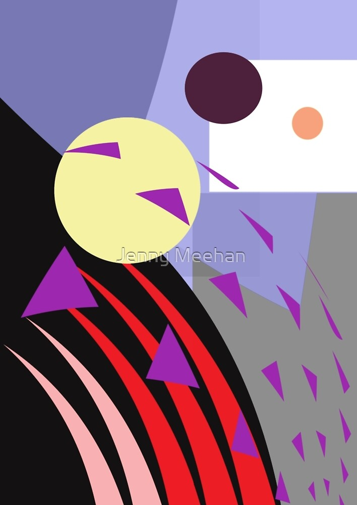 No Problem/Moving On - Geometric Colour Abstract Print by Jenny Meehan jamartlondon.com by Jenny Meehan