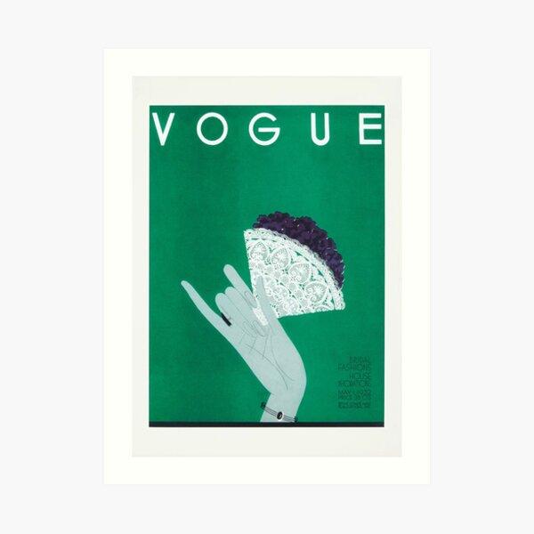 Vintage Vogue, Vogue Cover 1932 Kunstdruck