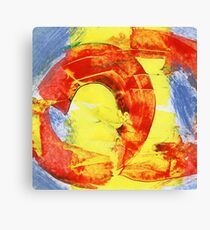 Red Circle Abstract Canvas Print