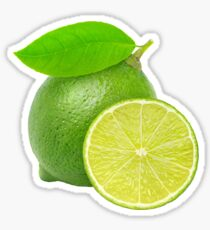 Lime with leaf Sticker
