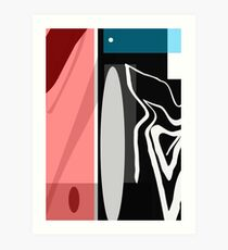 Relaxed - Colour Geometric Abstract Print by Jenny Meehan  Art Print