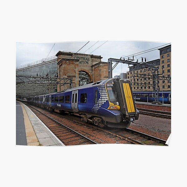 Scotrail Class 380 at Glasgow Central Poster