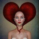 Queen of hearts portrait von Britta Glodde