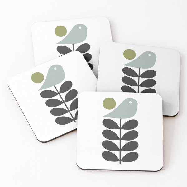 orla kiely bird stem design  Coasters (Set of 4)
