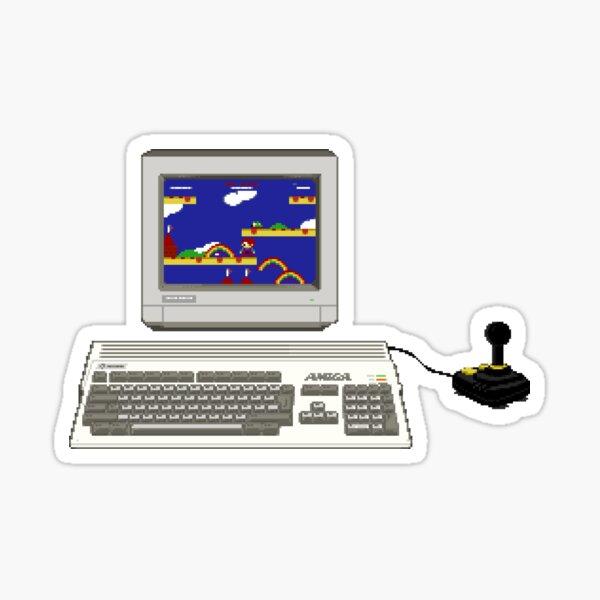 Commodore Amiga 1200 Retro Gaming - Original Pixel Art Sticker