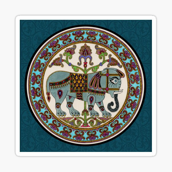 Byzantine elephant Medieval illumination Sticker