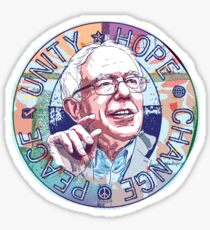 Bernie Unity Hope Peace Change 2016 Sticker
