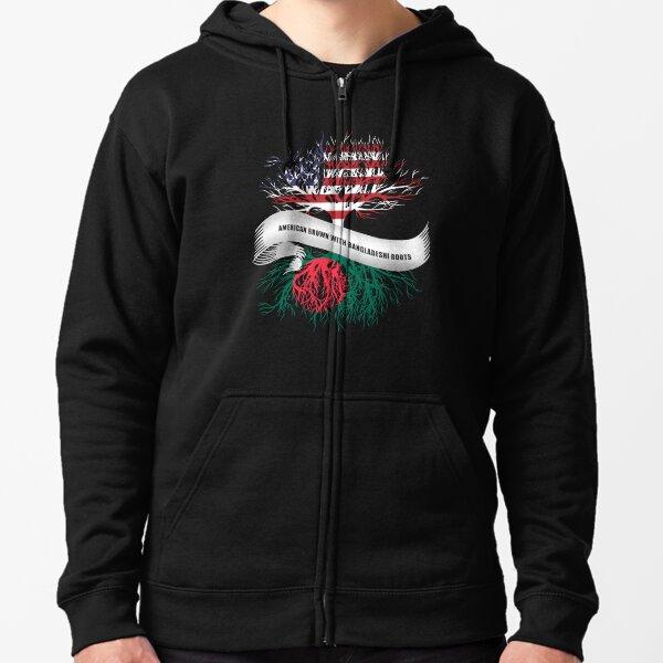 American Grown With Bangladeshi Roots Bangladesh Zipped Hoodie