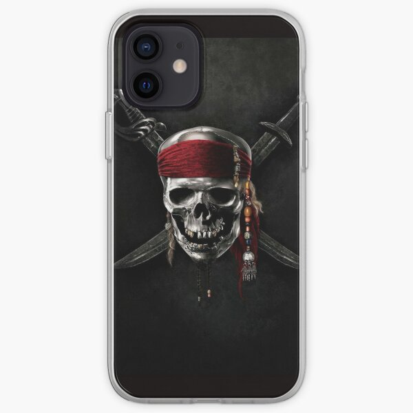 Pirate of the Caribbean Skull Jolly Roger iPhone Soft Case