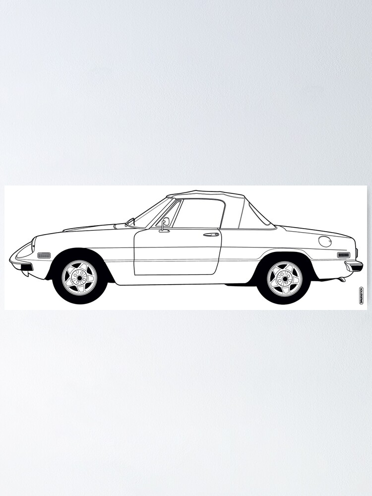 Alternate view of Alfa Romeo Spider Cabriolet Roadster Poster