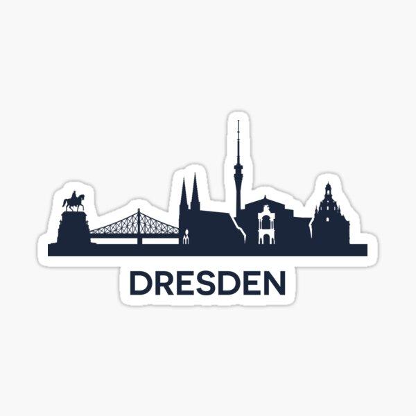 Dresden City Skyline Sticker