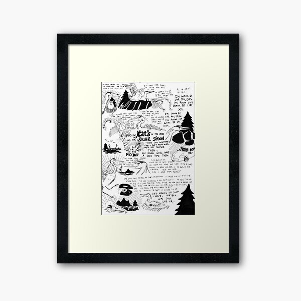 Cats in the cradle Framed Art Print