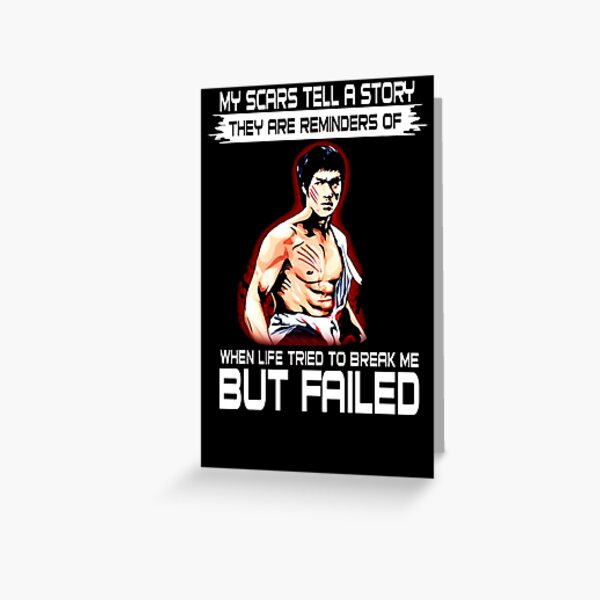 Bruce Lee Greeting Cards Redbubble