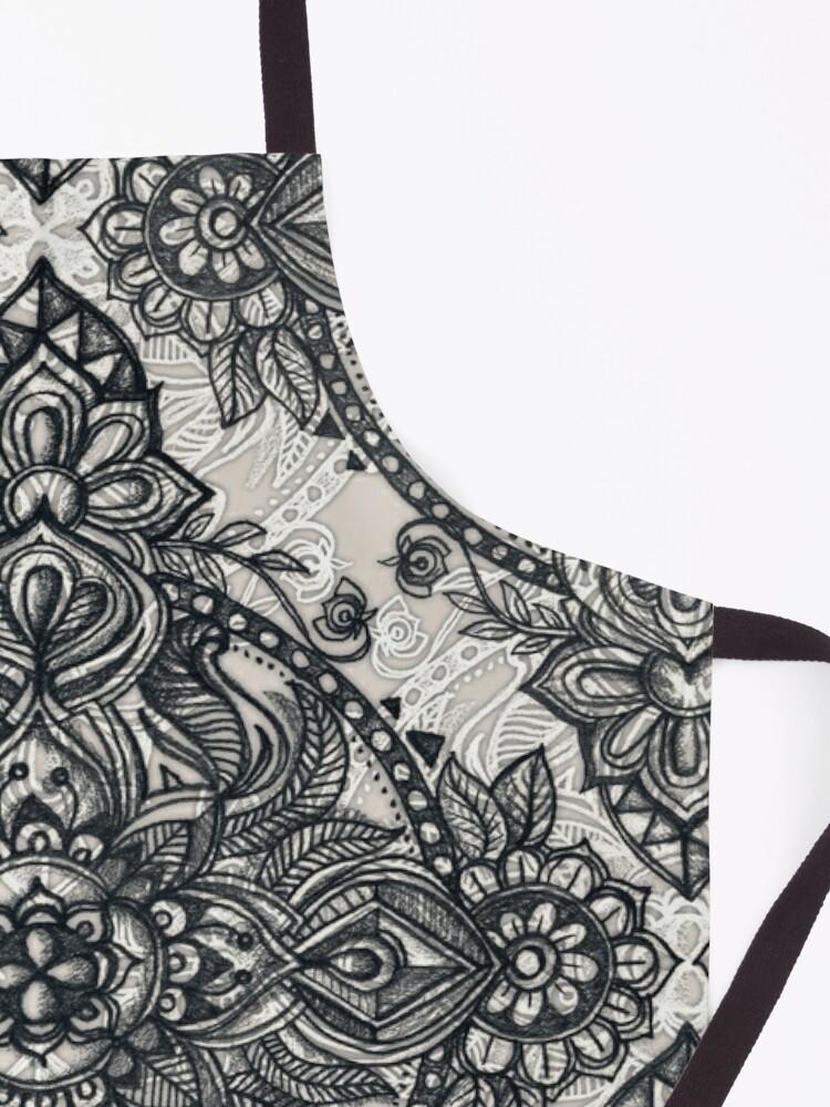 Alternate view of Charcoal Lace Pencil Doodle Apron