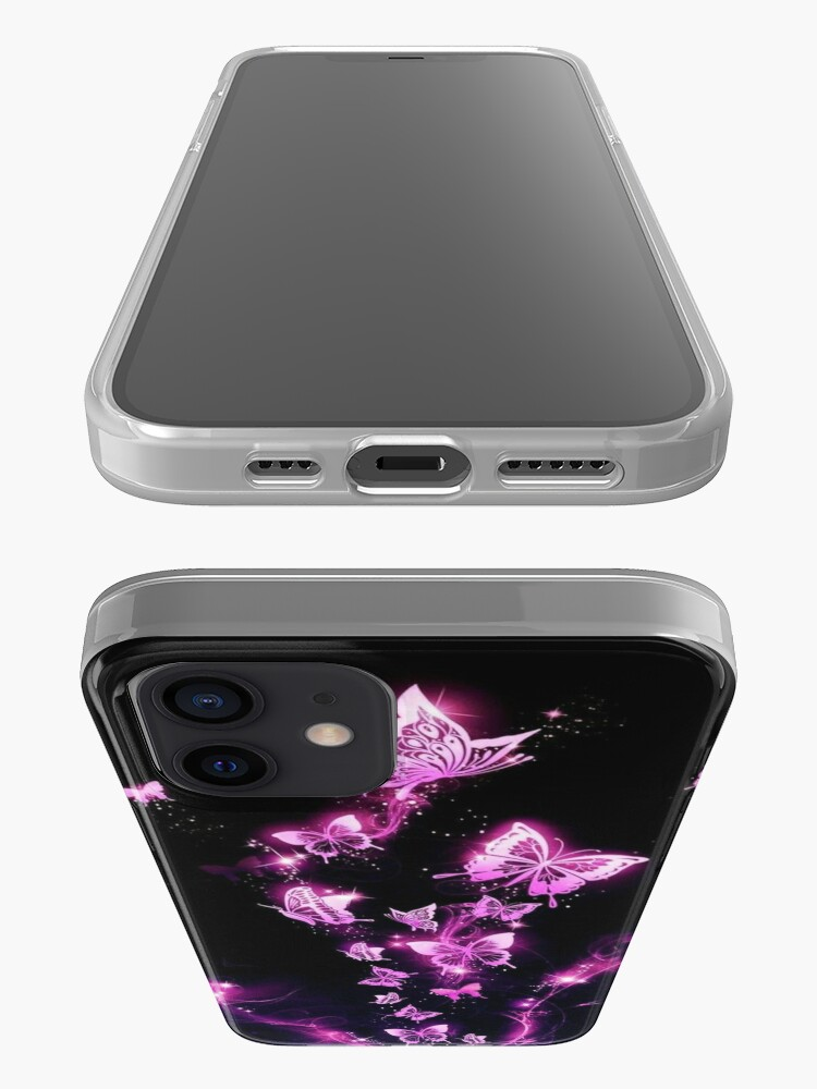 Alternate view of Neon Butterflies iPhone Case & Cover