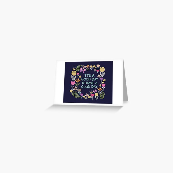 Illustrated motivational quote Greeting Card