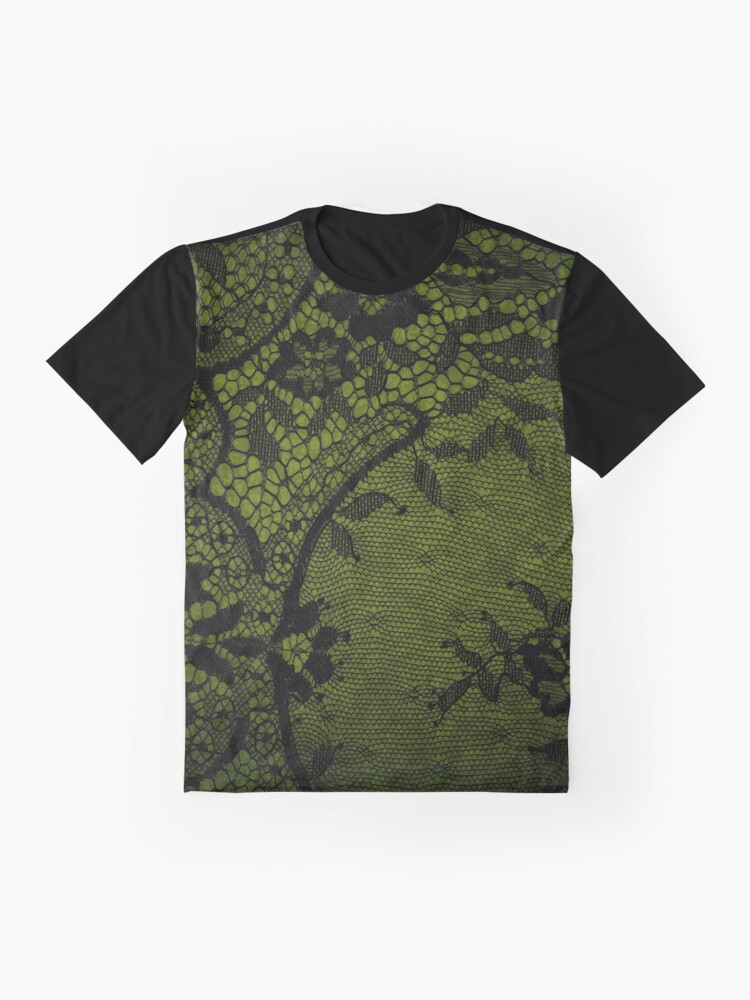 Alternate view of Beautiful Black Gothic Lace texture  Graphic T-Shirt