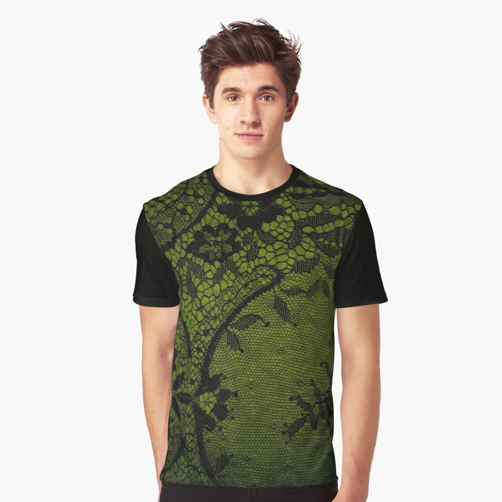 Beautiful Black Gothic Lace texture  Graphic T-Shirt