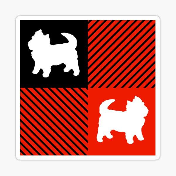 West Highland Terrier Red Flannel Plaid Sticker