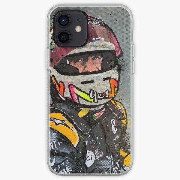 Daniel Ricciardo, Podium 2020 - Renault F1 graffiti painting by DRAutoArt iPhone Soft Case