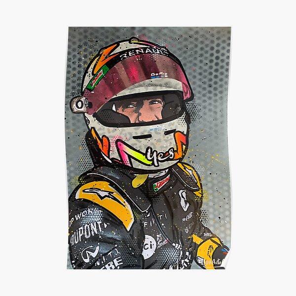 Daniel Ricciardo, Podium 2020 - Renault F1 graffiti painting by DRAutoArt Poster