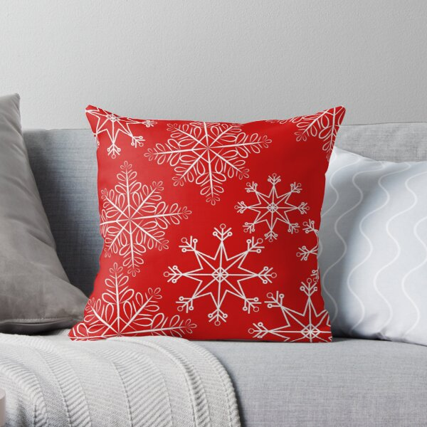 Snowflakes pattern pillow