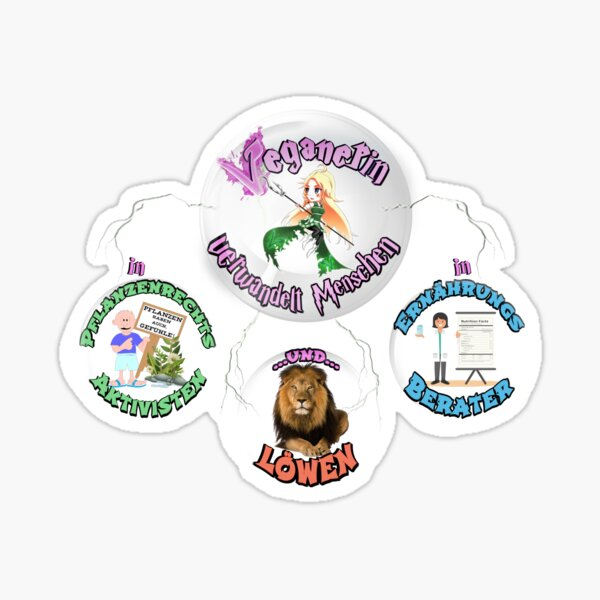 Vegane Zauberin Sticker