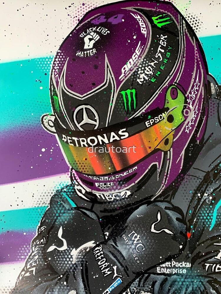 Lewis Hamilton 2020 - F1 graffiti painting by DRAutoArt by drautoart