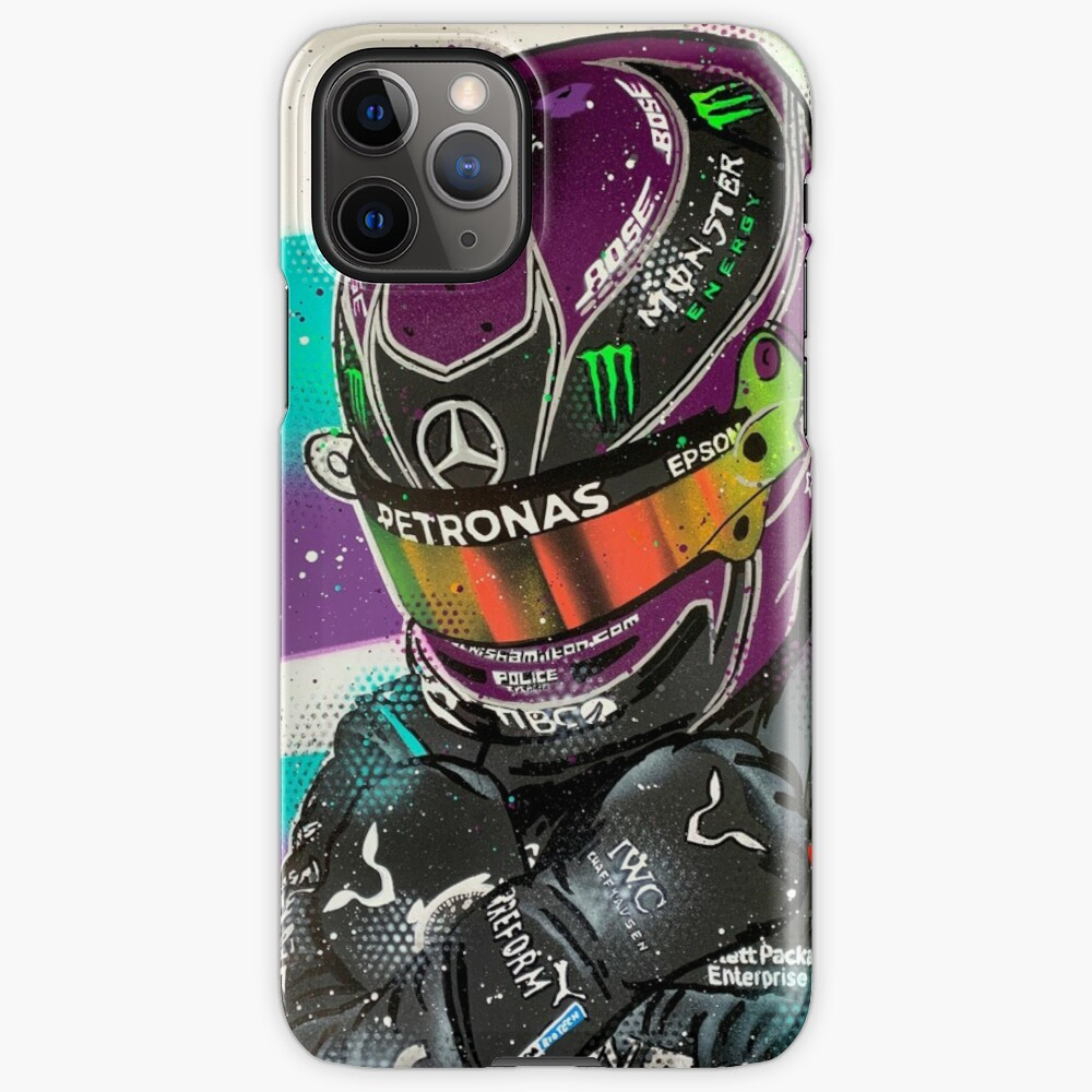 Lewis Hamilton 2020 - F1 graffiti painting by DRAutoArt iPhone Case & Cover