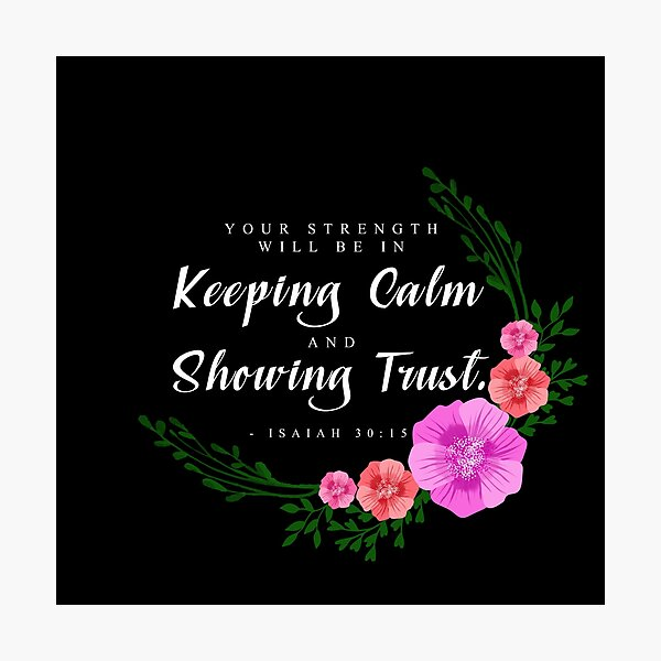 Yeartext 2021- floral black Photographic Print