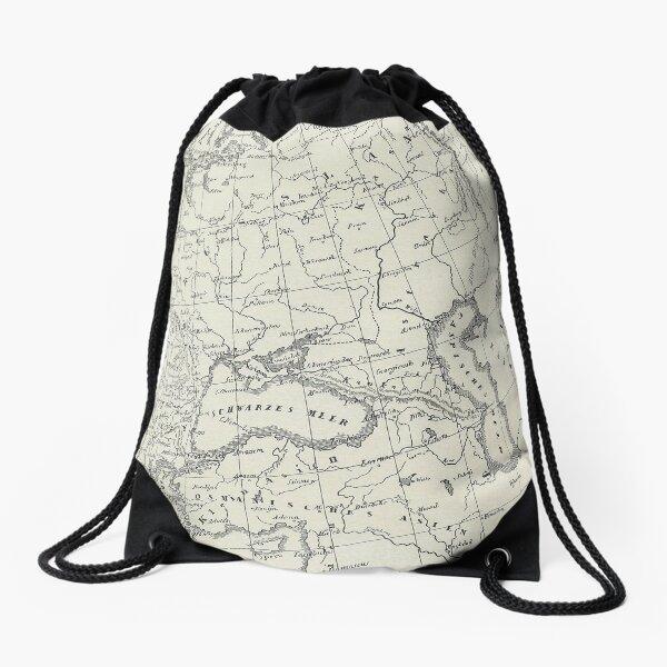 Vintage Map Drawstring Bag