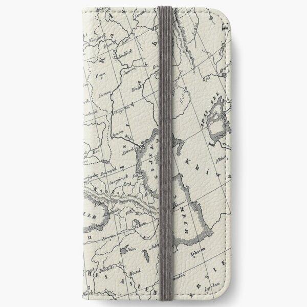 Vintage Map iPhone Wallet