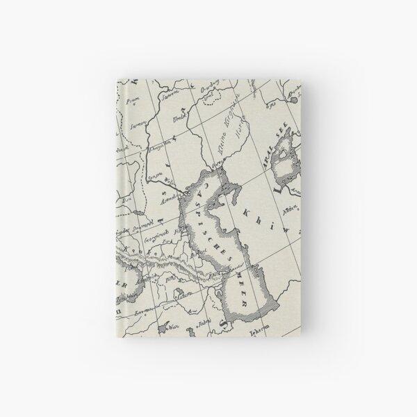 Vintage Map Hardcover Journal