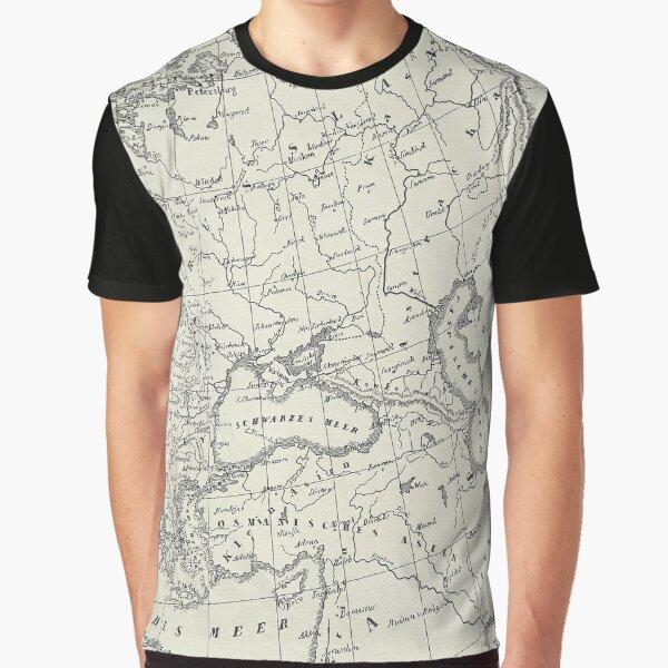 Vintage Map Graphic T-Shirt