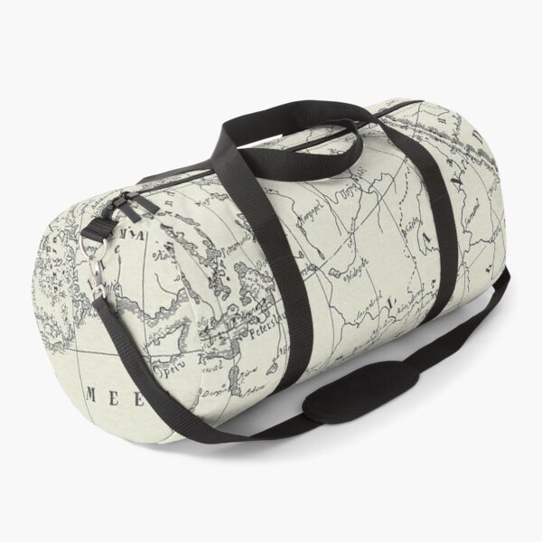 Vintage Map Duffle Bag
