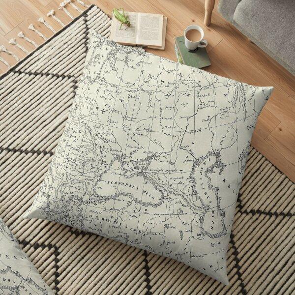Vintage Map Floor Pillow