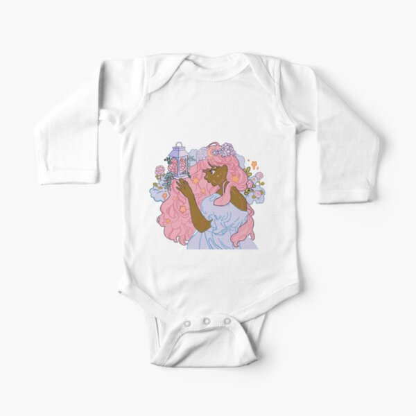 Floral Goddess Long Sleeve Baby One-Piece
