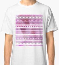 Purple Watercolor Tribal Pattern Classic T-Shirt