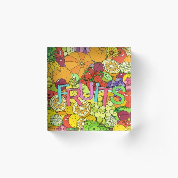 FRUITS Acrylic Block