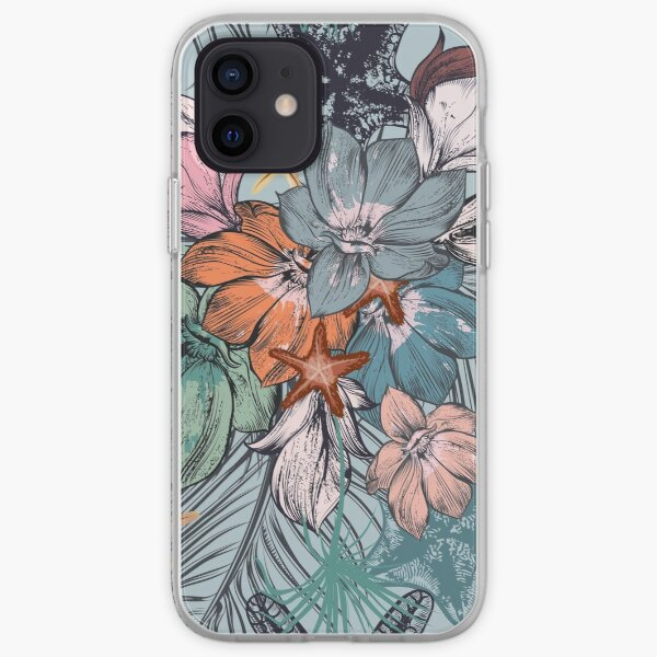 Flowers Pattern iPhone Soft Case