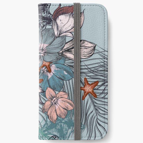Flowers Pattern iPhone Wallet