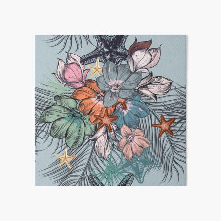Flowers Pattern Art Board Print